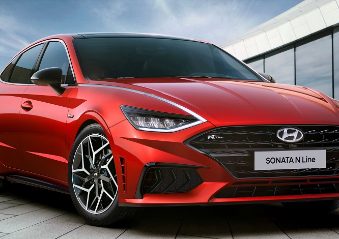 This photo provided by Hyundai Motor shows the Sonata N Line model to be launched later this year.