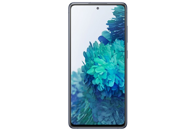 This photo provided by Samsung Electronics Co. on Sept. 23, 2020, shows the company's new Galaxy S20 Fan Edition smartphone.