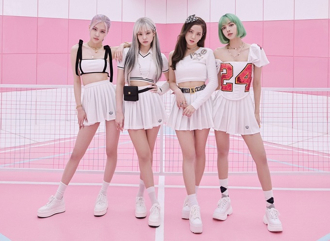 A promotional photo of K-pop girl group BLACKPINK provided by YG Entertainment
