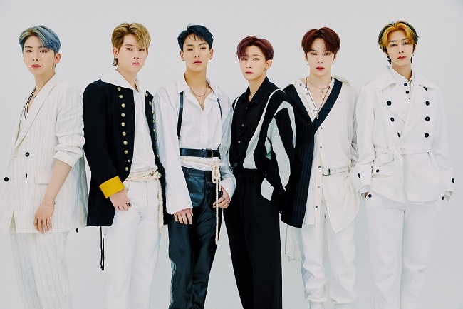 """This photo provided by the Korea Cultural Heritage Foundation shows K-pop boy band Monsta X. The group will star in a new YouTube series, titled """"Korean Heritage Travelog,"""" co-produced by the Cultural Heritage Administration and the Korea Cultural Heritage Foundation."""