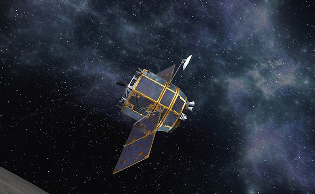This image, provided by the Korea Aerospace Research Agency on Jan. 1, 2020, shows a graphic of a spacecraft.