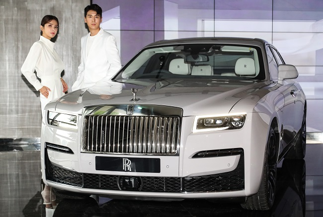 This file photo provided by Rolls-Royce shows the New Ghost.
