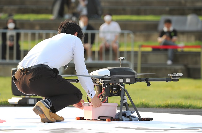 Seoul Tests Drone Food Delivery Service amid Pandemic