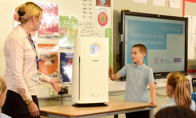 Philips, The Philips Foundation and Global Action Plan Team Up to Improve the Air Quality at Schools