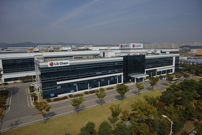 LG Chem's factory in Cheongju, a city located about 130 kilometers south of Seoul (Yonhap)