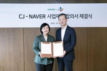 Naver, CJ Sign Share-swap Deal in Strategic Tie-up