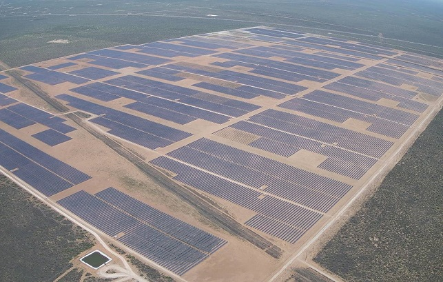This photo, provided by Hanwha Energy Corp., shows a 180-megawatt solar plant built in the U.S. state of Texas by its U.S. subsidiary 174 Power Global.