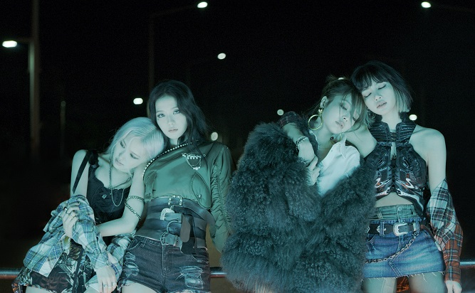 This image, provided by YG Entertainment, shows K-pop group BLACKPINK. The group released its first full-length album on Oct. 2, 2020.