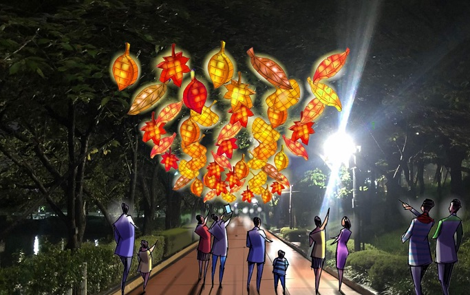 This image, provided by the Seoul metropolitan government, illustrates the 2020 Seoul Lantern Festival to be held in Jamsil, southern Seoul.