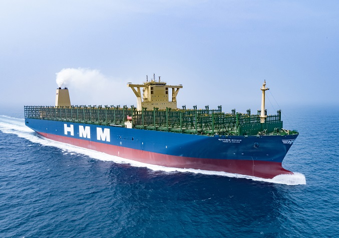 This photo provided by Daewoo Shipbuilding & Marine Engineering Co. shows a 24,000 TEU container carrier built by the company.