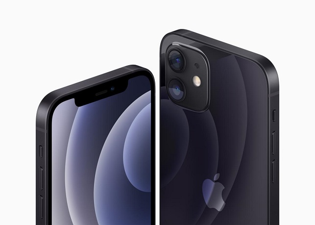 This photo provided by Apple Inc. on Oct. 13, 2020, shows the company's iPhone 12 and iPhone 12 Mini smartphone.