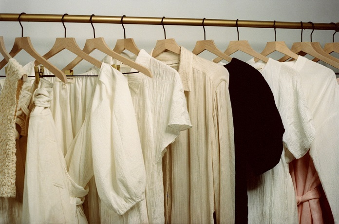 This photo, provided by LG Electronics Inc. on Nov. 3, 2020, shows eco-friendly clothing launched by the company and British online shopping mall Net-A-Porter in cooperation with U.S. fashion brand Mara Hoffman.