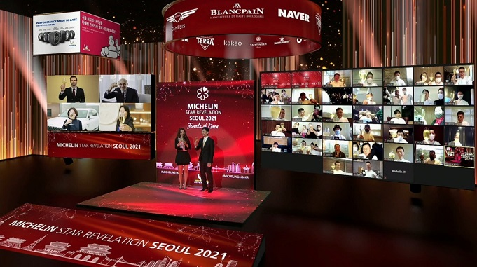 This photo, provided by Michelin Korea, shows the 2021 Michelin Guide for Seoul Awards, livestreamed on Nov. 19, 2020.