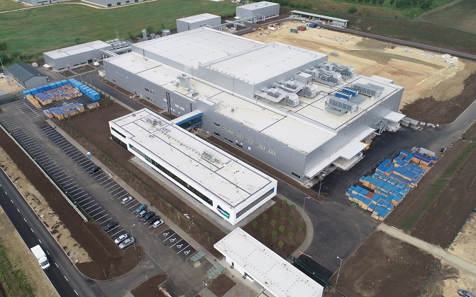 This photo, provided by Doosan Corp. on Oct. 30, 2020, shows a Hungary battery copper foil plant of Doosan Solus Co.