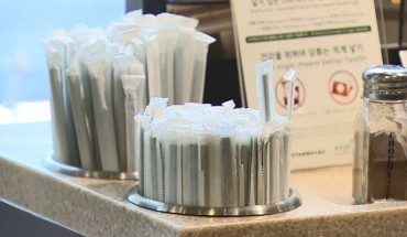 S. Korea to Ban Plastic Straws Attached to Beverages