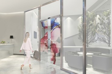 LG Signs Partnership with Assa Abloy to Supply Transparent OLED Automatic Doors
