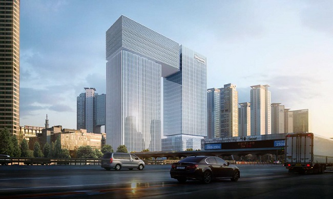 This file image provided by the Seongnam government shows Doosan Group's new building in Bundanggu, Seonganm, just south of Seoul.