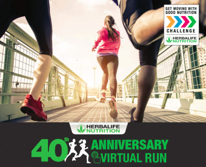 Over 14,000 Participants Overcome Health Inertia to Run 600,000 Kilometers in Herbalife Nutrition's 40th Anniversary Virtual Run across Asia Pacific