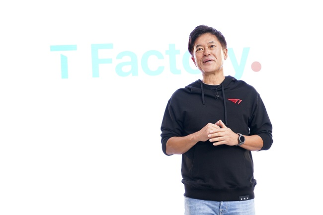This file photo provided by SK Telecom Co. on Oct. 27, 2020, shows the company's CEO Park Jung-ho.