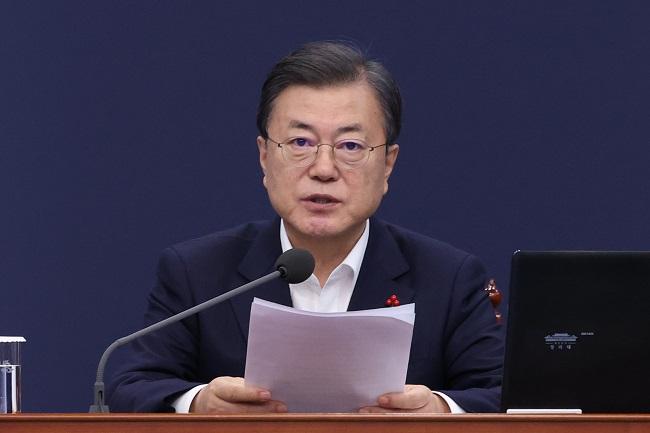 Moon Says S. Korea to Begin Coronavirus Vaccine Shots in Feb.