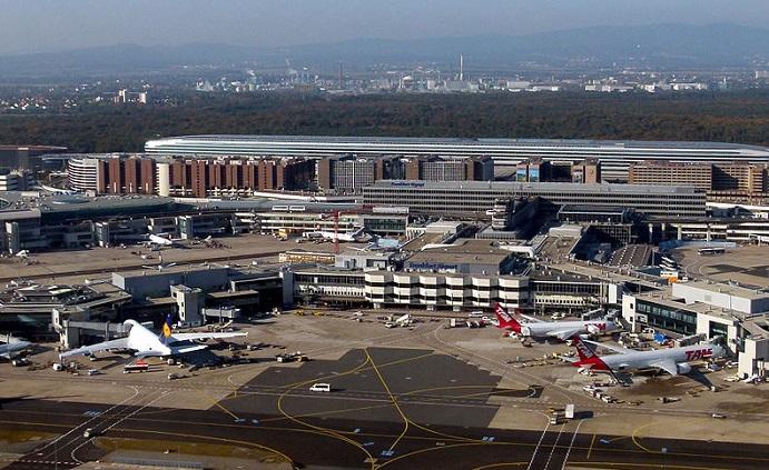 Aerial view of Frankfurt Airport. (image: Public Domain)