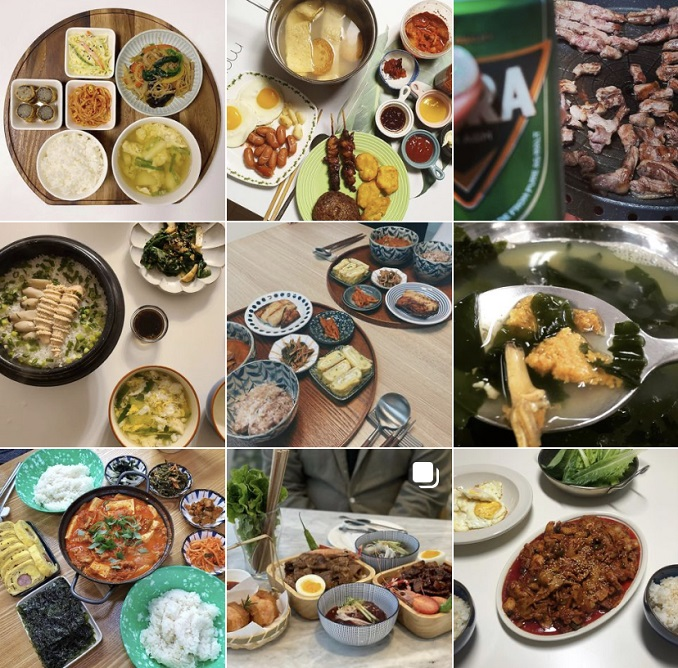 """These images captured from Instagram with the hashtag of """"Jipbab"""" shows a variety of rice-based Korean dishes."""