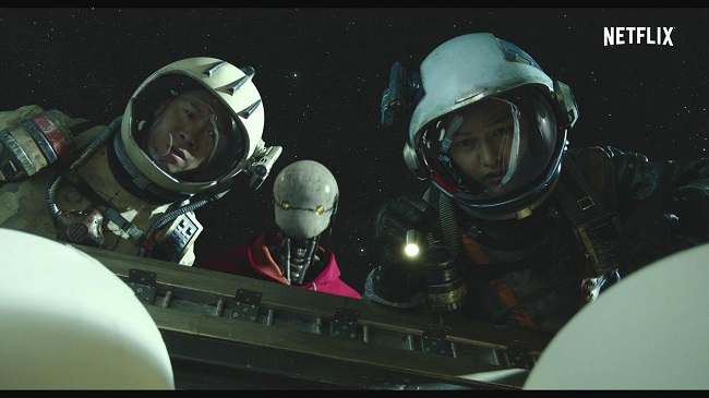"""A scene from """"Space Sweepers"""" by Netflix"""