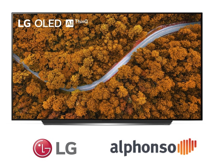 This photo, provided by LG Electronics Inc. on Jan. 7, 2021, shows the corporate logo of LG Electronics and U.S. TV data analysis firm Alphonso Inc.