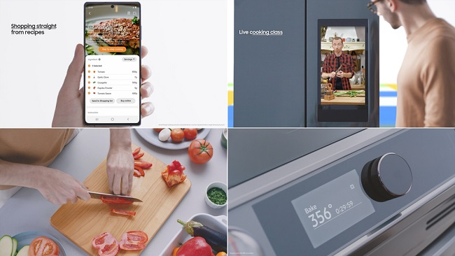 This undated images provided by Samsung Electronics Co. shows the company's SmartThings Cooking service.