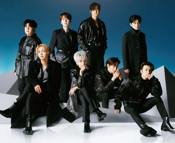 "This photo, provided by Label SJ, shows a promotional photo for Super Junior's new Japanese album ""Star."""