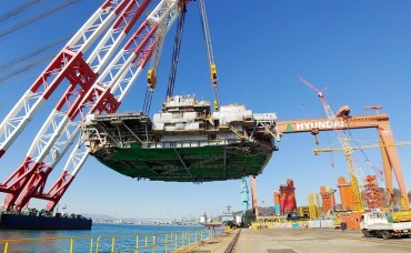 Hyundai Heavy Sets Record By Lifting 9,100-ton Offshore Facility