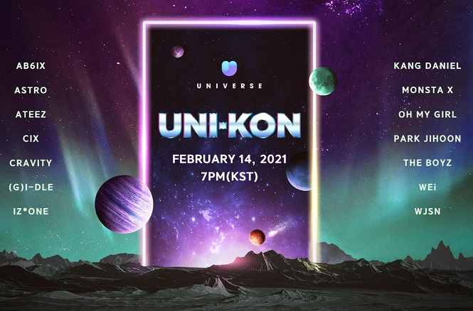 This image, provided by South Korean online game maker NCSOFT Corp. on Jan. 21, 2020, shows its K-pop fan platform, Universe.