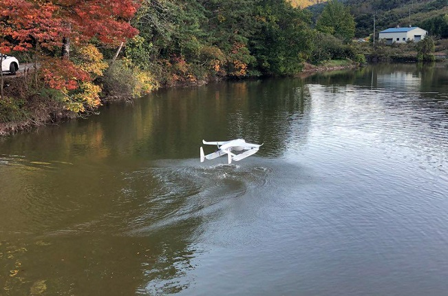 This photo provided by the Korea Institute of Ceramic Engineering and Technology shows its scale model air taxi.