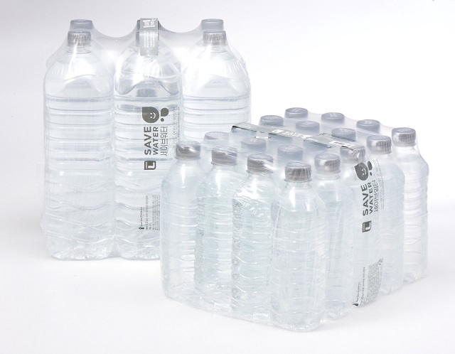 This photo provided by Lotte Mart shows its private-label brand bottled water.