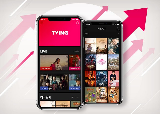 CJ's Tving Emerges as Major Threat in S. Korean Streaming Service Market