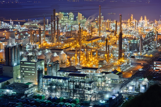 LG Chem Ltd.'s petrochemical factory in Yeosu, 455 kilometers south of Seoul, is seen in this file photo provided by the company on Nov. 7, 2020.