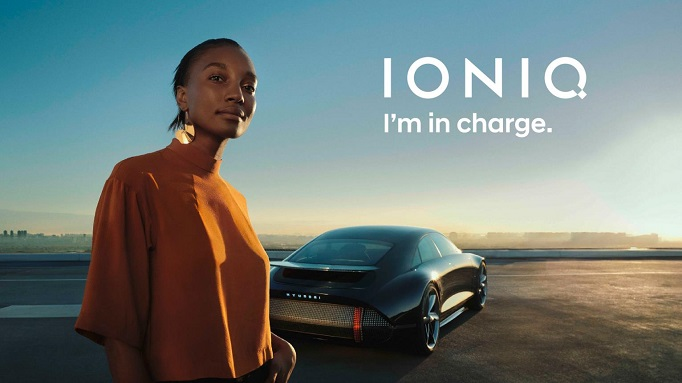 This image provided by Hyundai Motor shows the carmaker's upcoming all-electric IONIQ brand.
