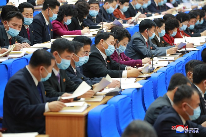 N. Korean Officials Seen Wearing Masks at Party Congress After Days of No-mask Sessions
