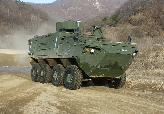 This undated photo, provided by the arms procurement agency on Jan. 25, 2021, shows a command post vehicle. The agency said the vehicle's development, which began in 2017, was completed earlier in the month.