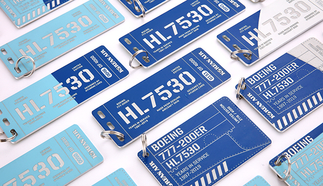 Korean Air Makes Name Tags Using Skin of Dismantled Aircraft