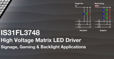 30V, 24×4 Dot Matrix LED Driver for Signage and Gaming Machines