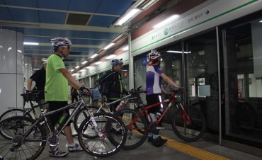 Seoul City Allows Bike Carriage in Day Time of Week Days for Subway Line No. 7