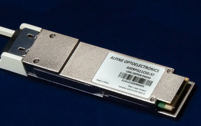 Alpine Optoelectronics Delivers Single-Wavelength 100G DWDM QSFP28 PAM4 Transceiver for 100km Interconnects