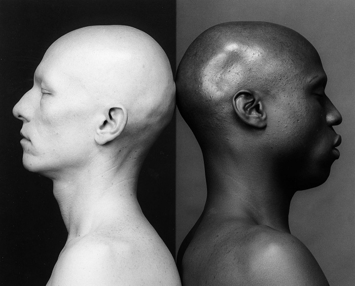 "This image, provided by Kukje Gallery, shows Robert Mapplethorpe's work ""Ken Moody and Robert Sherman"" (1984)."