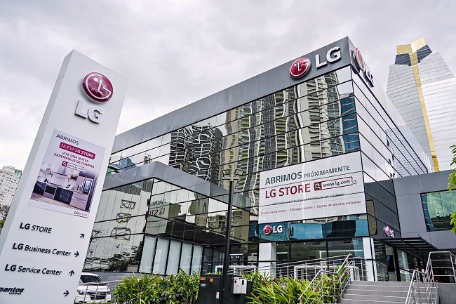This photo provided by LG Electronics Inc. on Feb. 26, 2021, shows the company's premium store in Panama City, Panama.