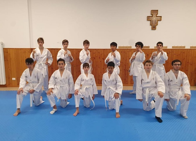 Young Priests Take Taekwondo Lessons at Vatican City