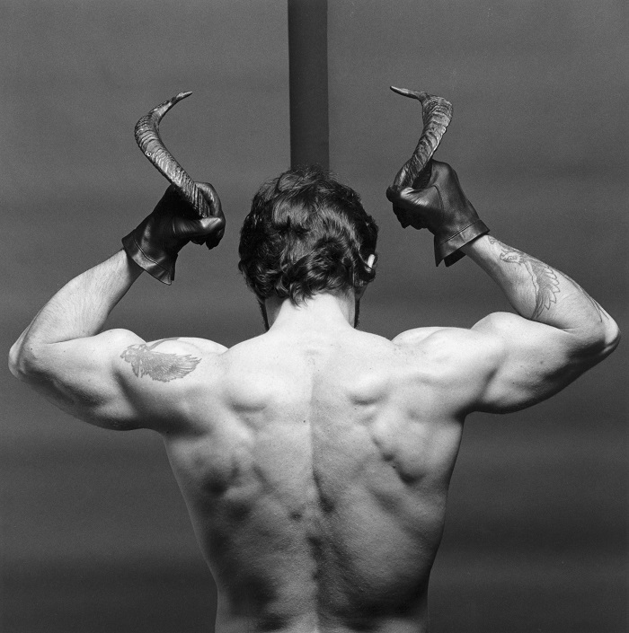 "This image, provided by Kukje Gallery, shows Robert Mapplethorpe's work ""Frank Diaz"" (1980)."