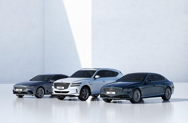 This file photo provided by Hyundai Motor shows Genesis models.