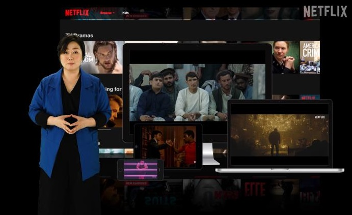 Netflix Vice President Kim Min-young speaks in an online event on Feb. 25, 2021, in this photo provided by Netflix.