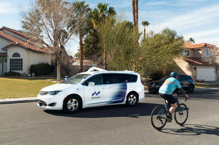 The testing was conducted less than three months after the state of Nevada approved the company's testing of its vehicles without a human safety driver. (image: Motional)